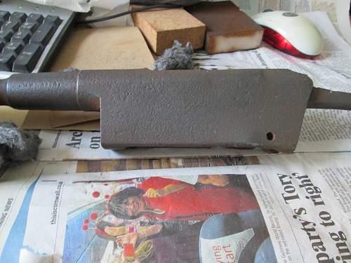 WW1 relic 1886 Lebel rifle.
