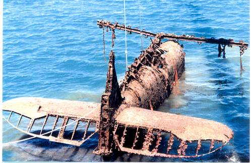 THE RECOVERY OF A BLENHEIM MkIVF,  FROM THE AEGEAN
