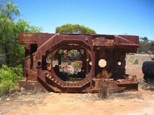 Old tanks in Australia