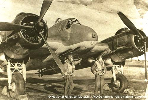 Front of a german aircraft.