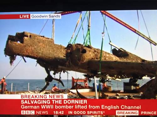Dornier 17 - Goodwin Sands to be raised on 4th May 2013