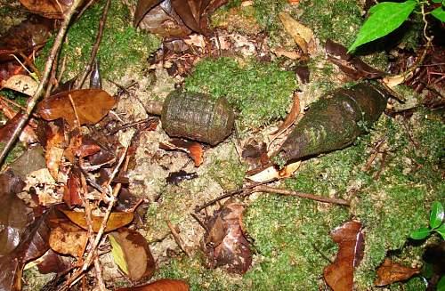 13 - Japanese hand grenade and rocket warhead DSC01322.jpg