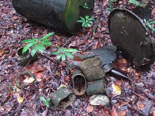 13 - Japanese messkits dumped in jungle.jpg