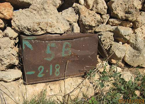 Ammo crate found in a fence, Malta