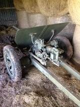 Interesting find in an open barn - WW2 Japanese 47mm type-1 anti tank gun
