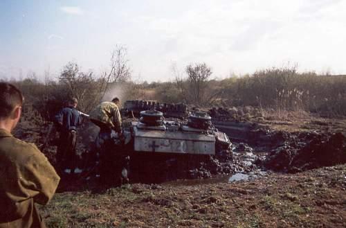 German Stug found in Pskov area