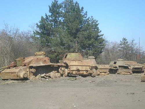 Tanks as pillboxes in Bulgaria, recovered