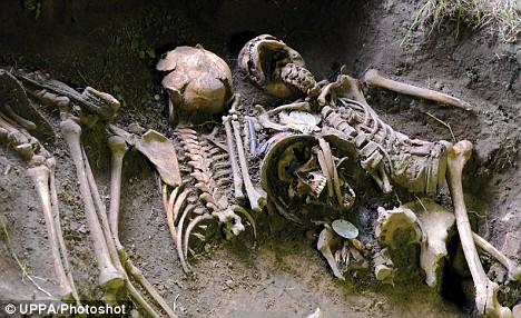 The remains of 5 German soldiers found (D-Day)