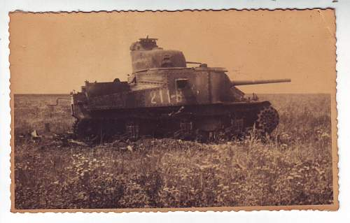 US M3A5 Grant Tank Used For Target Practice