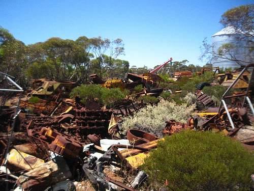 matilda and m3's in scrapyard