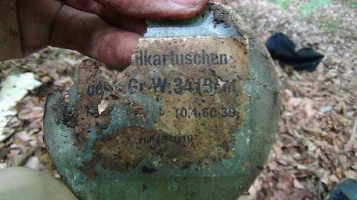 German Mortar position relics! What is it?