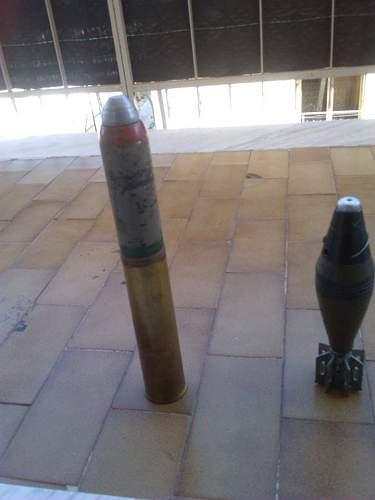 ww2 Found Ammo tank and Mortar Ammo