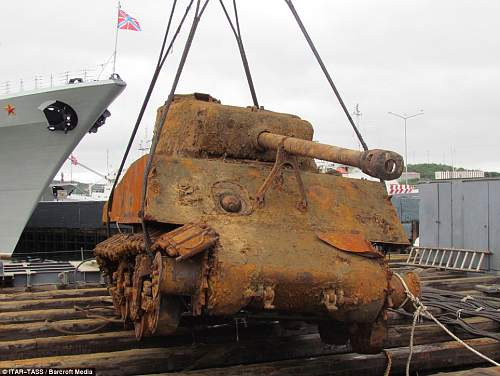 US Sherman recovered from sea