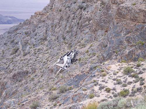 old wreck on mountainside