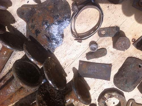 WW2 plane parts finds