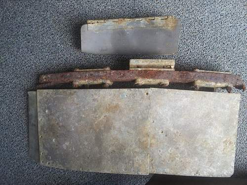 recovered aircaft relics from the islands