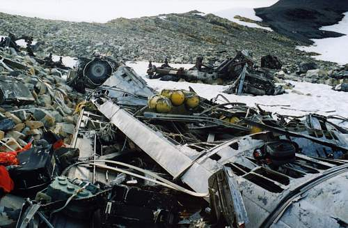 B-36 Crash site in northern  BC  Canada