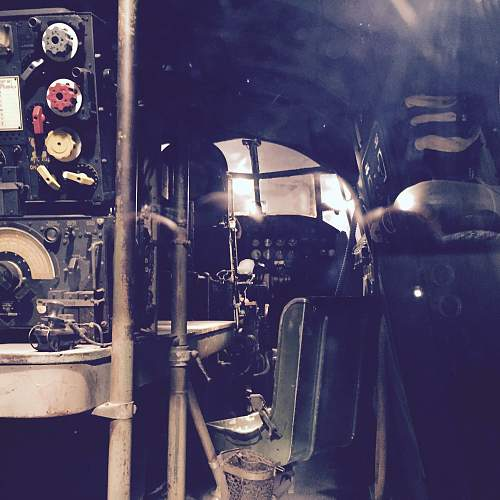 The Cockpit of a Lancaster called Old Fred.