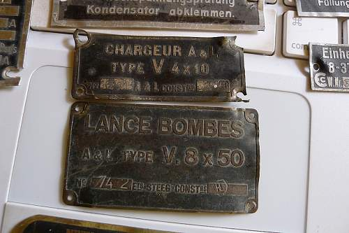 Luftschraube, ME109, BF109 ID tags, other mystery German tags, one maybe Italian?