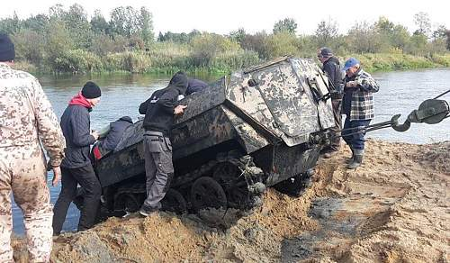 Sd.Kfz.250  Recovered in Poland today!....