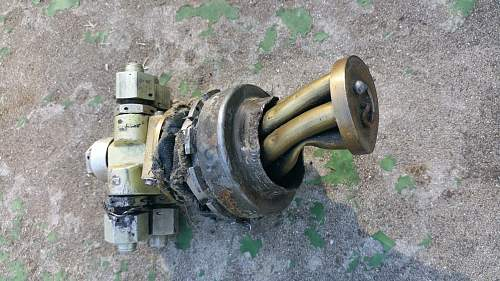 Late war ME109G crash relics