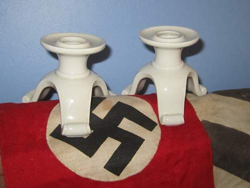 SS Allach Candle Holders.