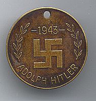 adolph hitler 1943 brass tag identificaion