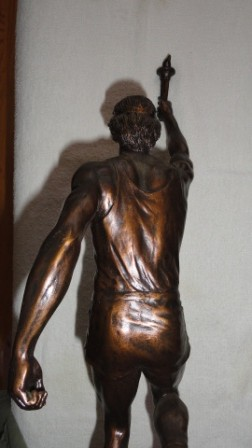 Olympian Runner w/ Torch Statue from Nazi Germany Era(?)