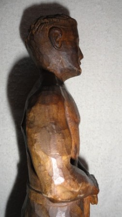 "Worker with Shovel Wood Statue - ""Albeit Adelt"""