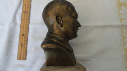 Bust of Adolf Hitler w/ Base