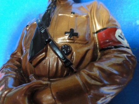 """Adolf Hitler in Uniform Color Statue w/ Nazi Armband - 12"""" tall"""