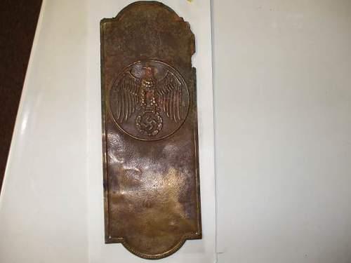 Need Help Identifying This Piece: NSDAP Door Plaque?