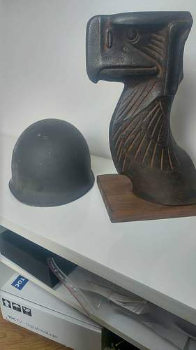 Opinions on large cast iron eagle head