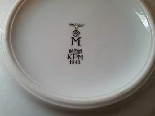 Tableware officer Kriegsmarine with strips !!
