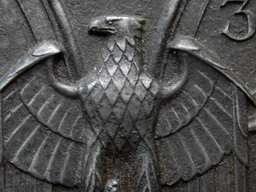 cast iron plaque adler and iron cross