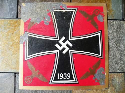 German Flags on Tin Squares