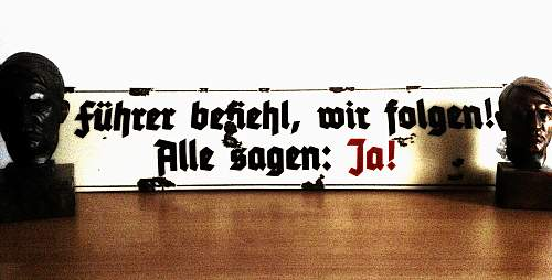 Enamel sign with famous slogan