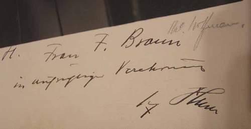 AH, Heinrich Hoffmann signed photo