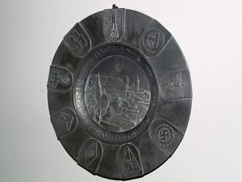 Nurnberg Reichsparteitage plate
