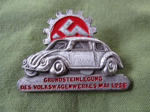 Volkswagen grundstein legung Pin help Please