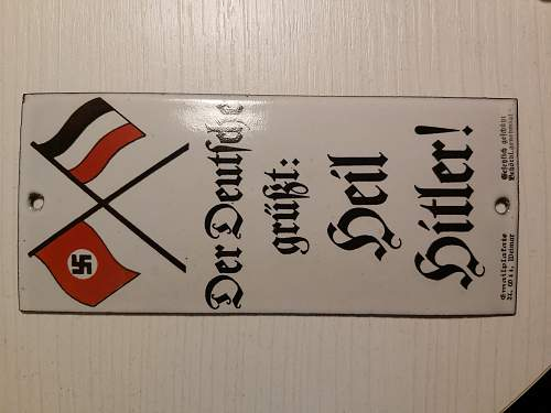 NSDAP propaganda plaque?