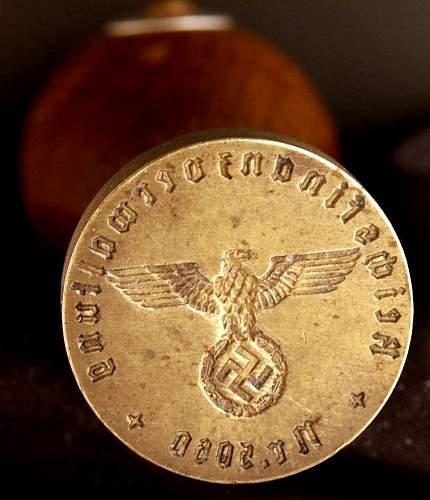 Reichsfinanzverwaltung- wax seal stamp
