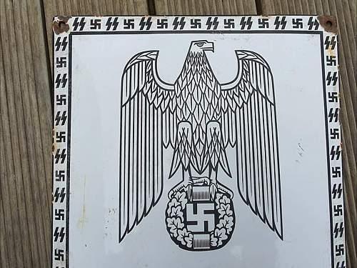 Treblinka / Kommandantur sign