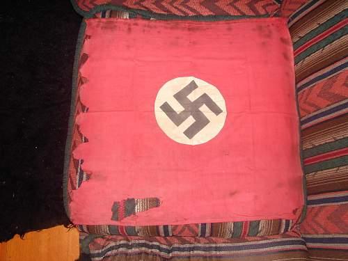 Two German Window box flags, Genuine?