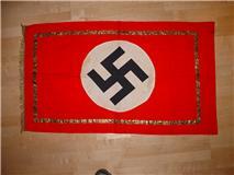 Gold fringe flag/banner