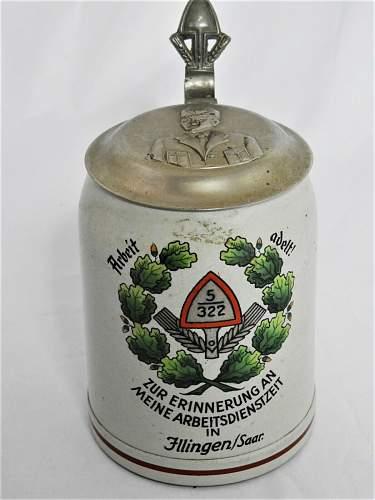 Reichsarbeitsdienst bier krug