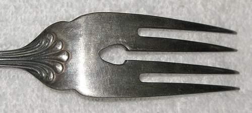 Linked AH Monogram Salad Fork...