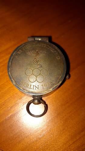 German compass Berlin Olympics 1936 not sure original