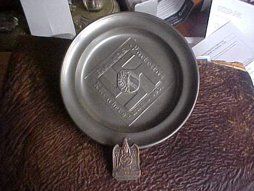 1933 Party Rally Plate