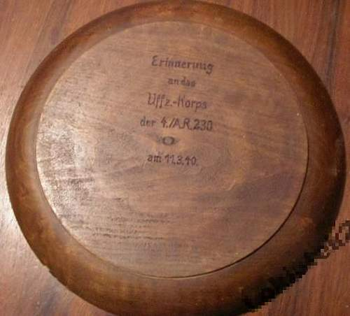 Wooden plate - opinions please